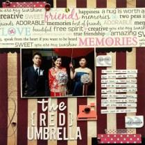 The red umbrella scrapbook layout