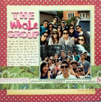 the whole group scrapbook layout