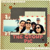 The group pic scrapbook layout