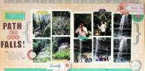 Path to the falls scrapbook layout