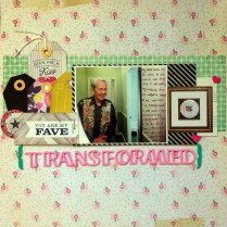 Transformed scrapbook layout