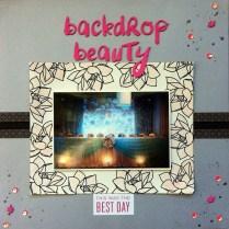 backdrop beauty scrapbook layout