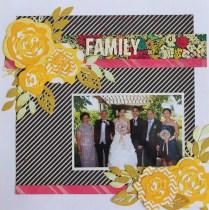 Family -Wedding Scrapbook Layout