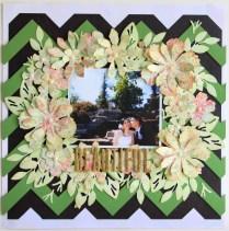 """""""Beautiful"""" Wedding Scrapbook Layout"""