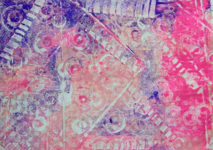 Gelli Plate Printing with Ferrero Rocher chocolate tray