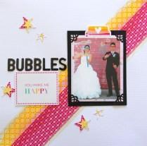Bubbles Wedding Scrapbook layout