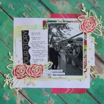 Our Story Wedding Scrapbook Layout