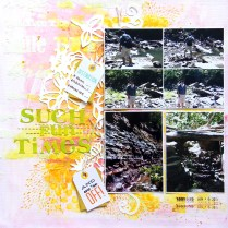 Mixed media layout - Such fun time scrapbook layout