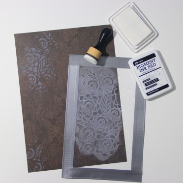 DIY patterned paper with ink