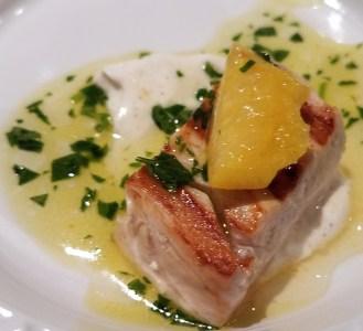 Grilled Swordfish and Pickled Lemon and Black Pepper Yogurt