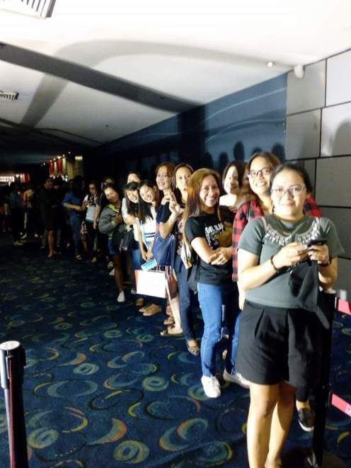 Excited Ji Chang Wook Filipino fans lined up outside the cinema