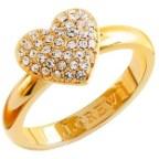 J.Crew Pavé heart ring