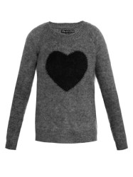 ELIZABETH AND JAMES heart intarsia knit sweater
