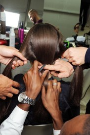 how many hands does it take to do hair at Chanel?!