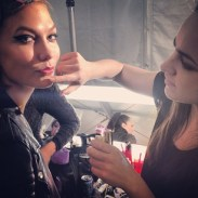 karliekloss Almost time for the show! #NYFW
