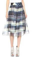 Carine Window Plaid Skirt