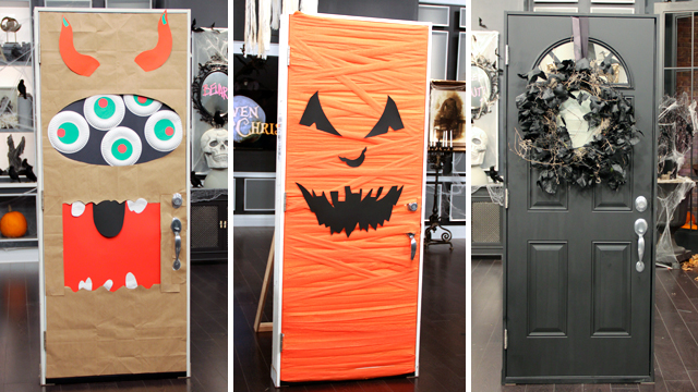 Halloween Inspiration: Silly Monster and Ghost Doors and