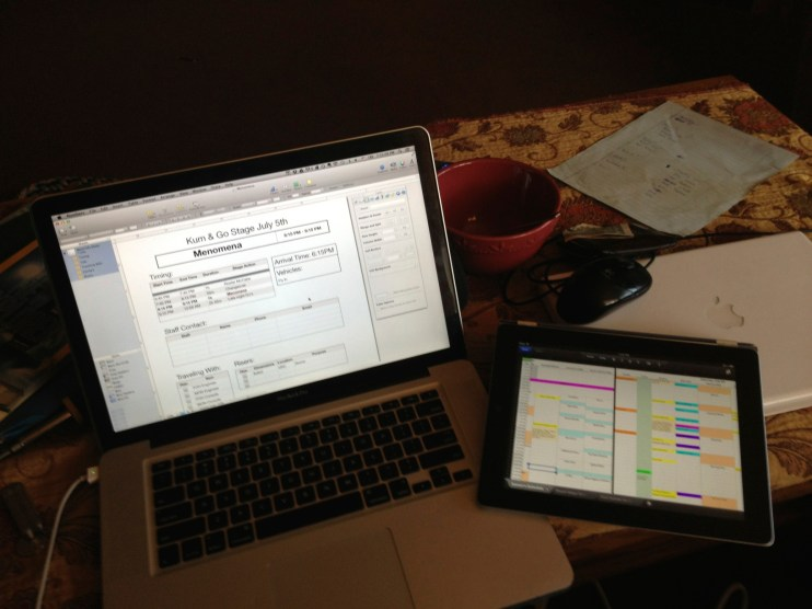Preparing Schedules and Day Sheets for the 80/35 Music Festival
