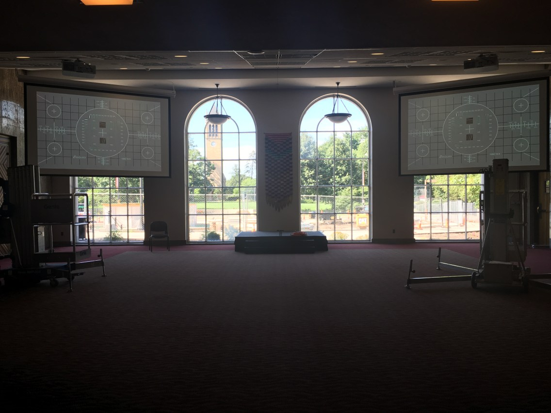 Dual Screen and Projector Installation for the Iowa State Memorial Union