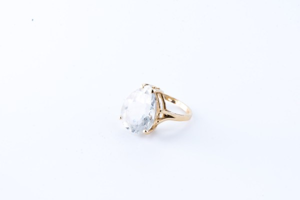 Topaz Pear Ring