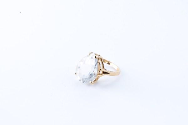 Topaz Pear Ring