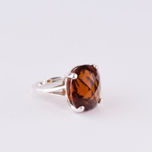 Fire Citrine Cocktail Ring