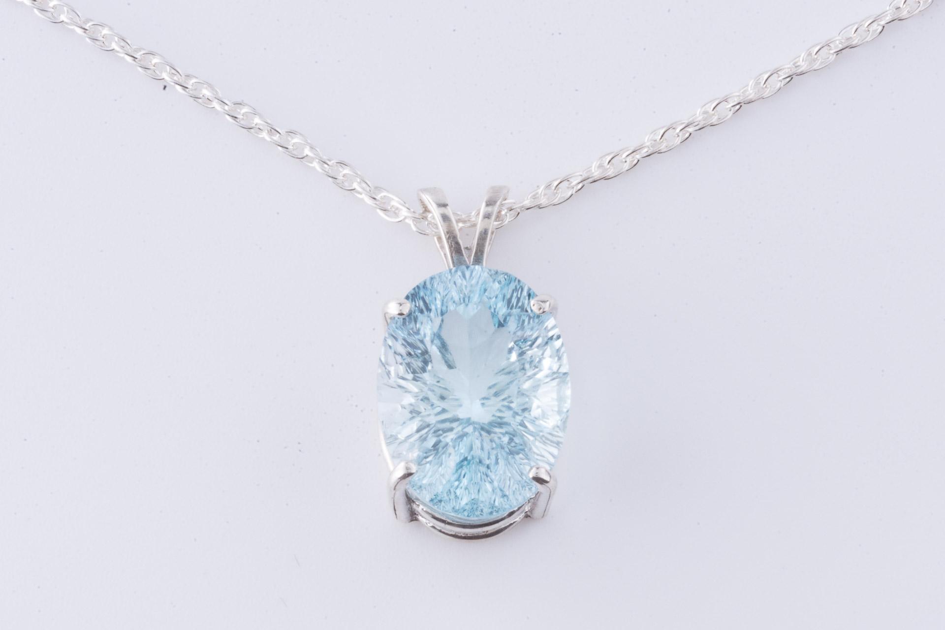 Ice blue topaz pendant pinnacle 5 minerals ice blue topaz pendant mozeypictures Images