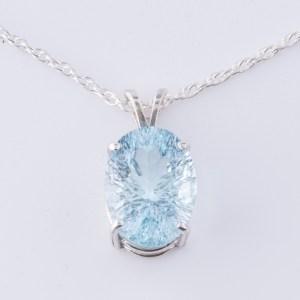 Ice Blue Topaz Pendant