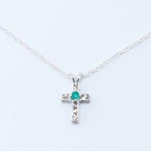 Amazonite Cross Necklace