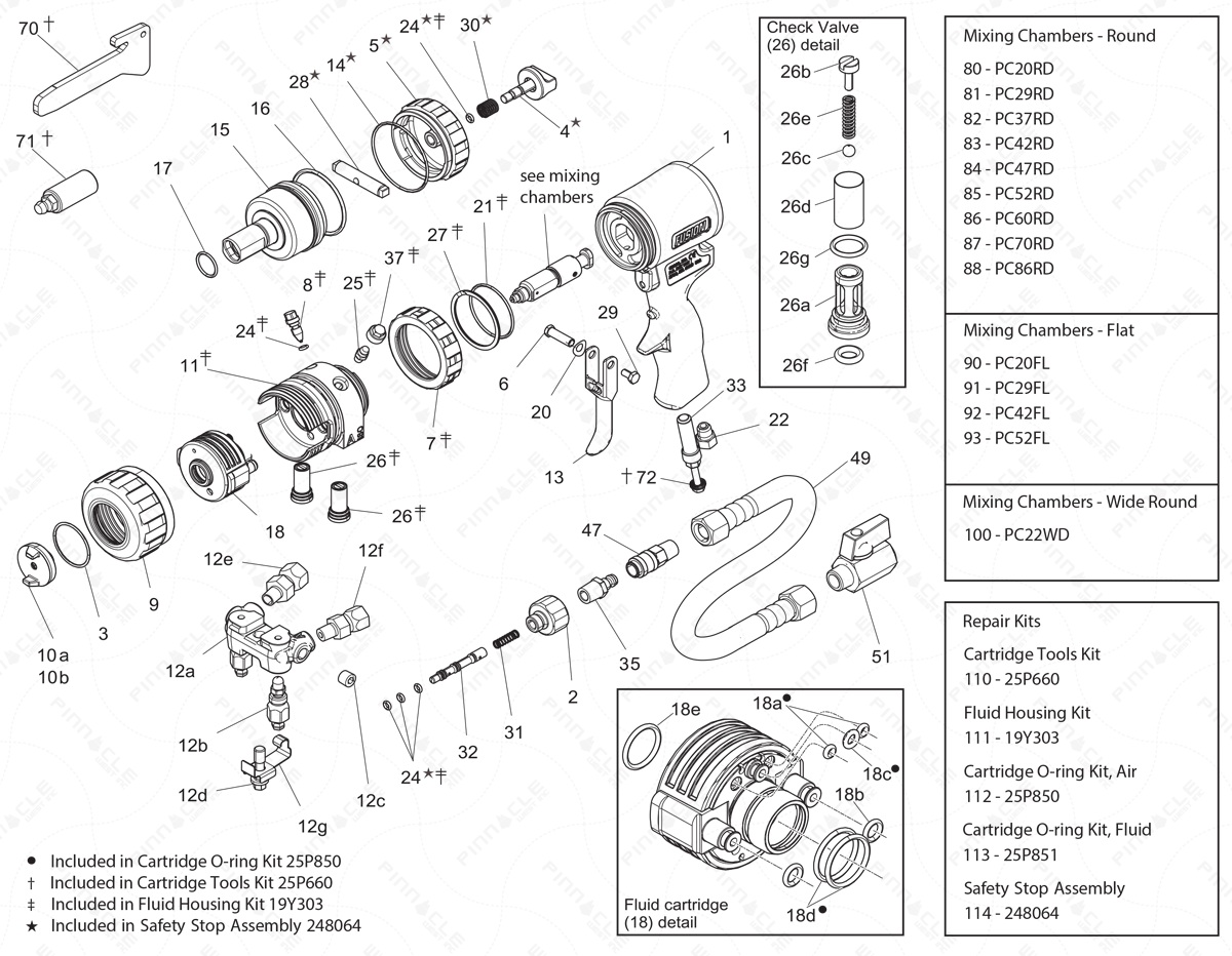 Graco Fusion Pc Main Unit Exploded Diagram