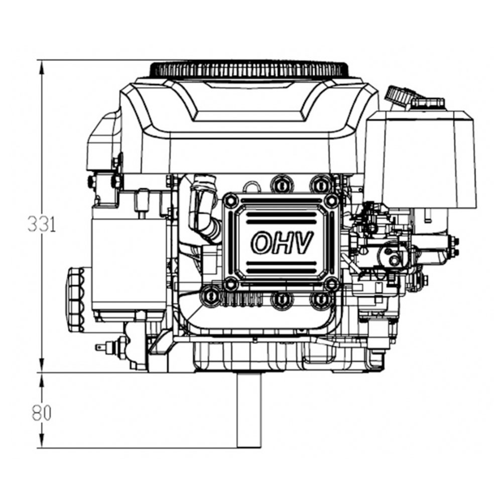 NEW 20HP Vertical Shaft Petrol Engine Ride On Mower Motor