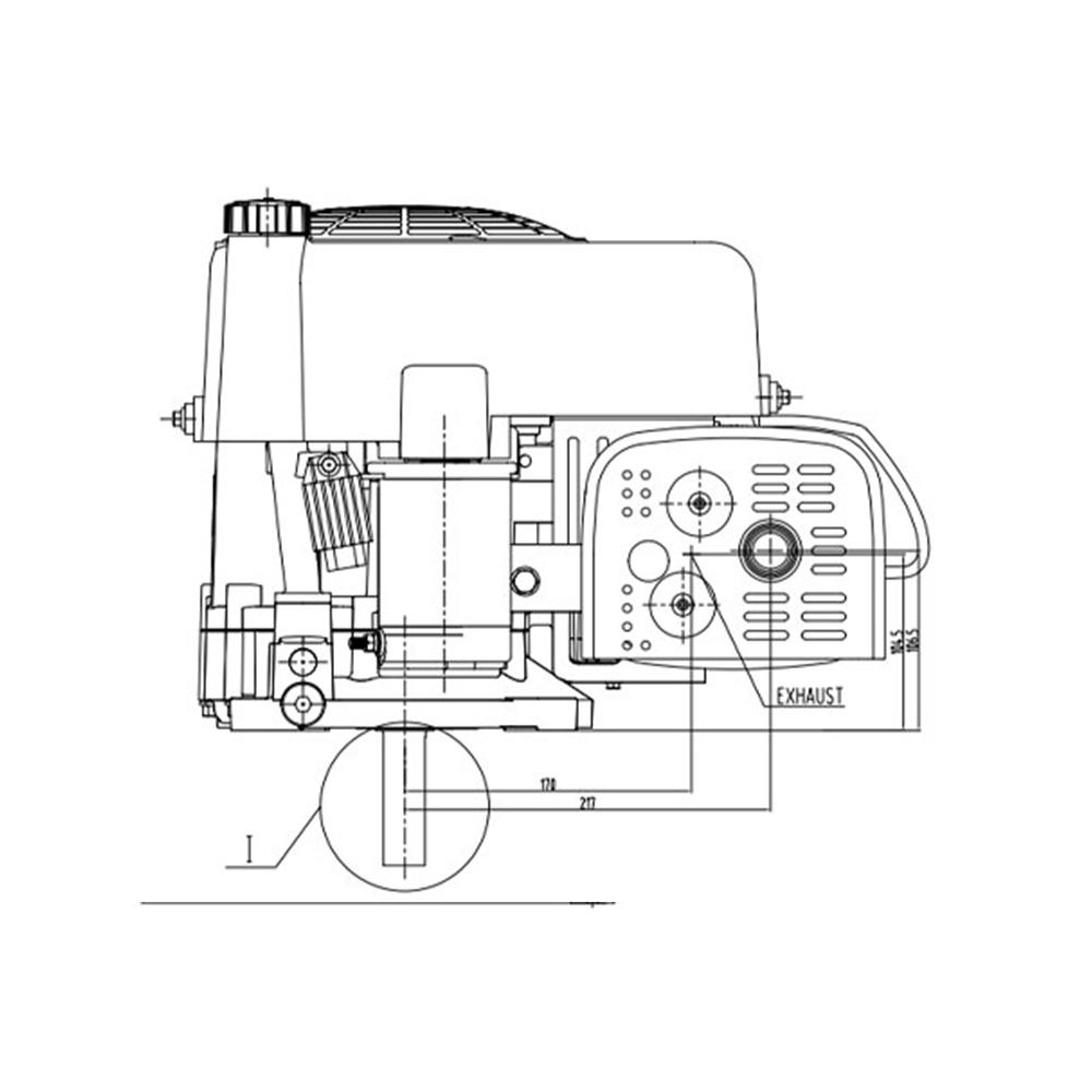 13HP VERTICAL SHAFT ENGINE, MOTOR, RIDE ON MOWER NAME