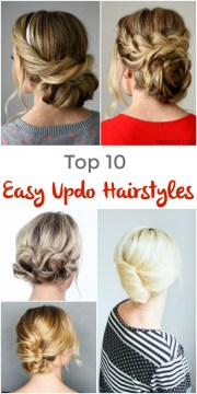 easy updo hairstyles - pinned