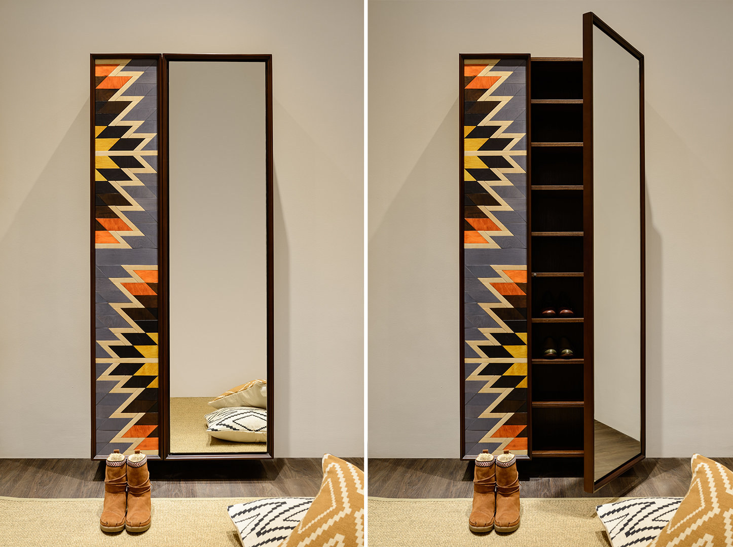 Kilim shoe cabinet - Pinocchio furniture