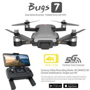 MJX Bugs 7 B7 GPS Drone 4K 5G WIFI HD Camera Brushless Motor RC Quadcopter Foldable