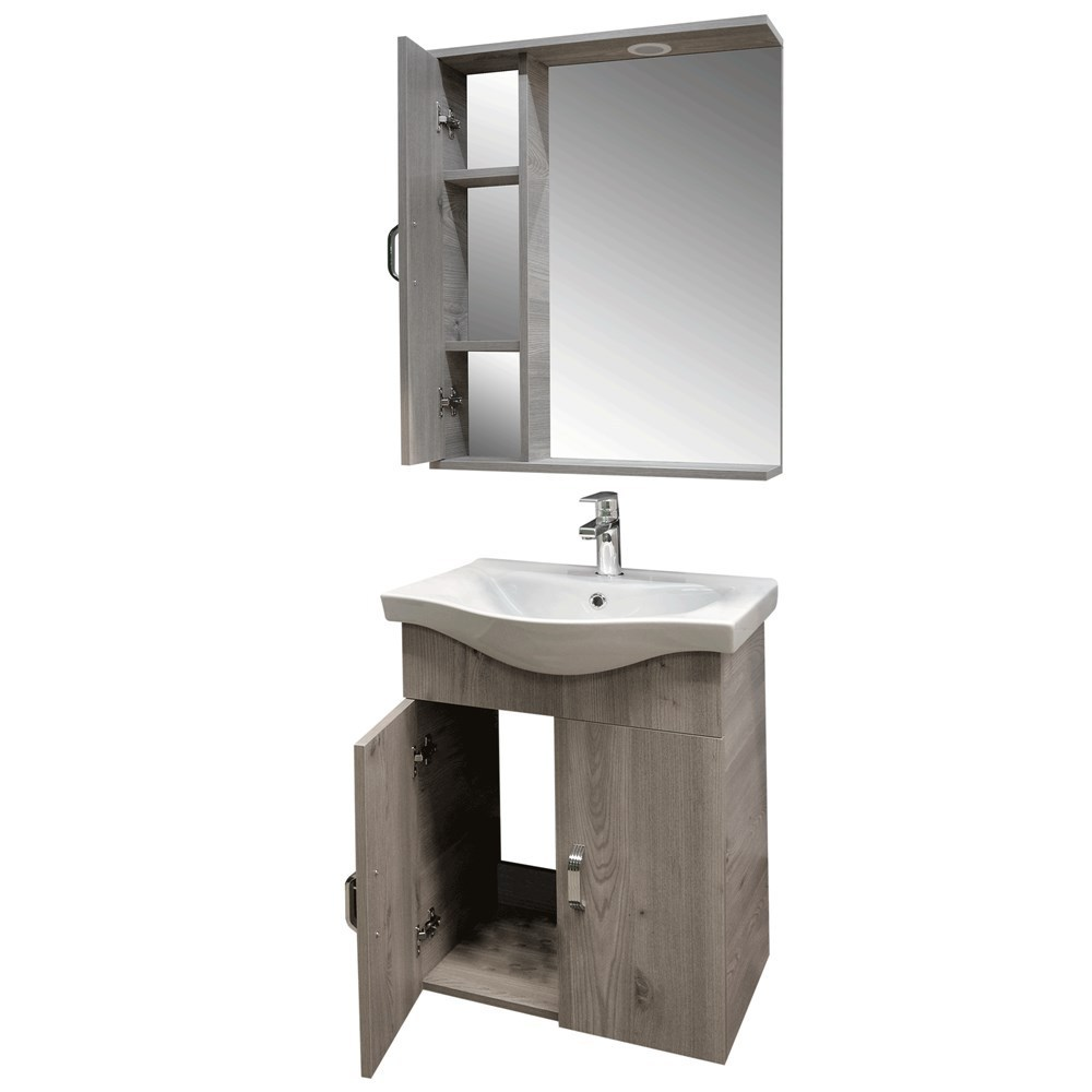 Mobilje tualeti ALBA 65 DROP melamine kafe 222175 2