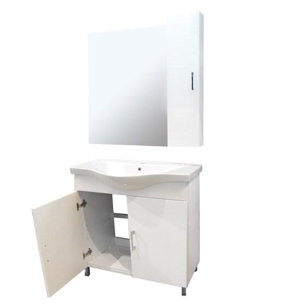 Mobilje tualeti ALBA 80 DROP melamine e bardhe 224357 3