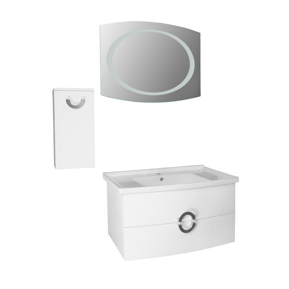 Mobilje tualeti Artemis PVC e bardhe 23604 1