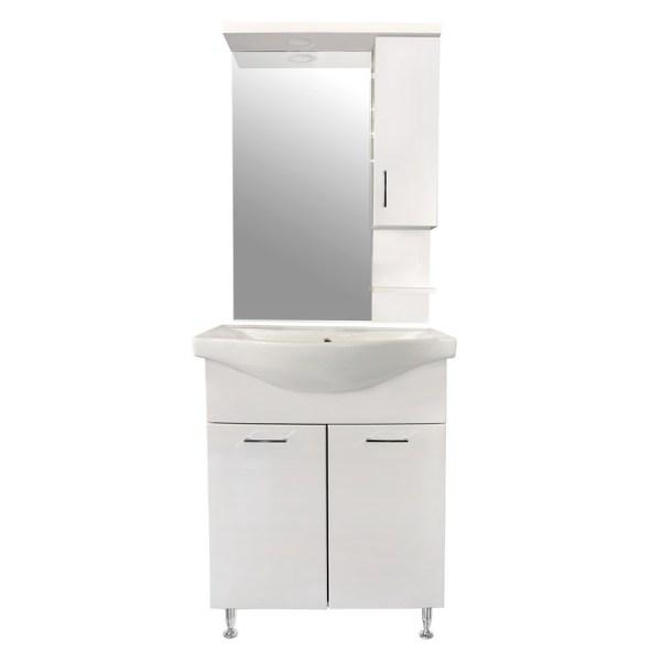Mobilje tualeti ESTELA 65 MDF e bardhe 224486 1