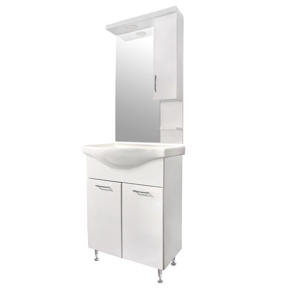 Mobilje tualeti ESTELA 65 MDF e bardhe 224486 2