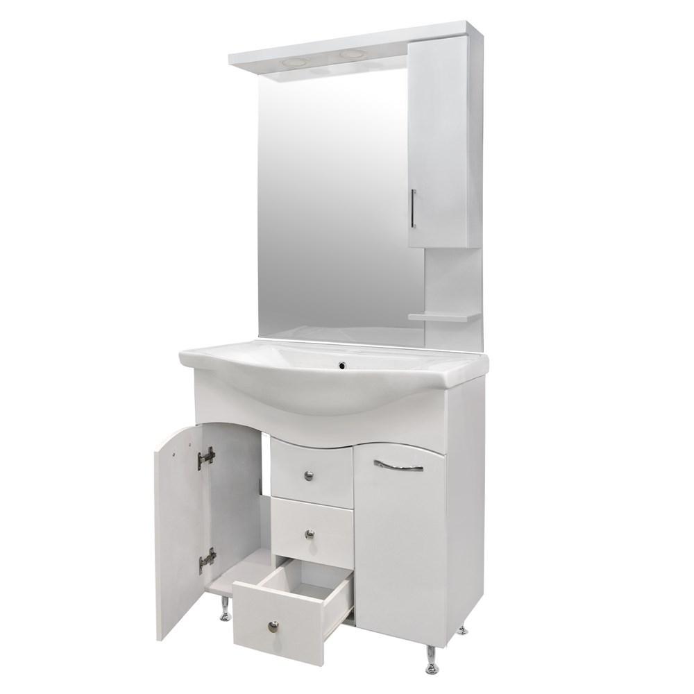 Mobilje tualeti KORAL 85 MDF e bardhe 224489 4