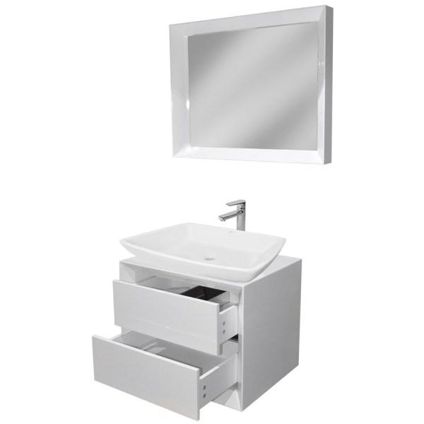 Mobilje tualeti MDF E bardhe 221428 3