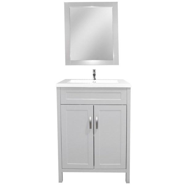 Mobilje tualeti MDF dhe ABS E bardhe 221431 2