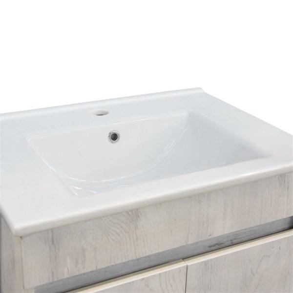 Mobilje tualeti OMEGA 60 Melamine e bardhe 224491 4