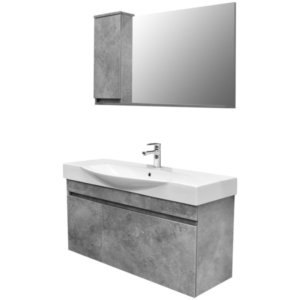 Mobilje tualeti SENSO 105 DROP melamine gri 222176 1