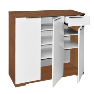cabinet multi melamine walnutwhite 905x34xh90 cm 1