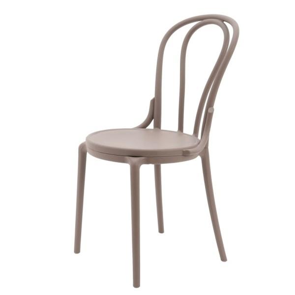 chairs plastic beige l 875 x 61 x 75 cm