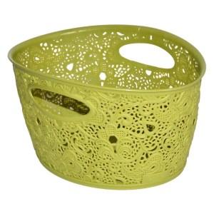 storage basket curver victoria polypropylene greenpurpleturquoise 29x21xh16 cm