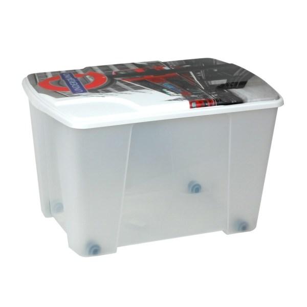 storage box london plastic clear 56x39xh35 cm