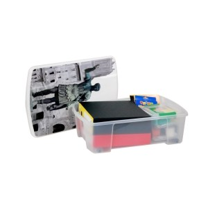 storage box rome polypropylene clear 565x39xh18 cm 1